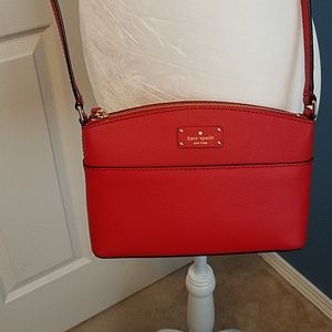 Kate Spade red crossbody purse. New condition.